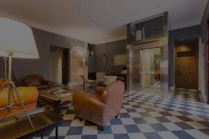 Interior del hotel Posada Terrasanta en Mayorca